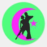 Ballroom Dancing Classic Round Sticker