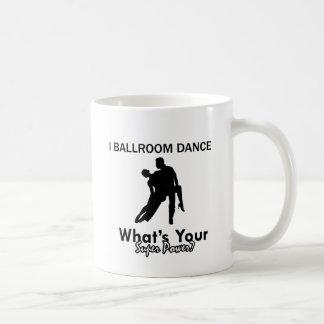 Ballroom dancing designs classic white coffee mug