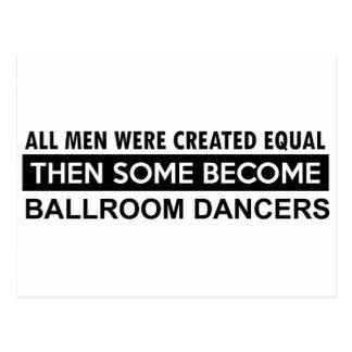 Ballroom dancing designs postcard