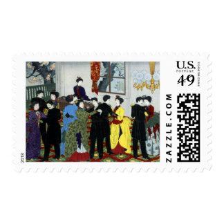 Ballroom dancing in Tokyo, Japan. Circa 1888 Postage Stamps