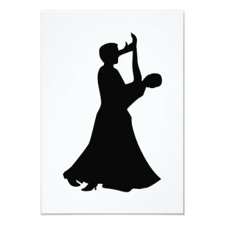 Ballroom dancing 3.5x5 paper invitation card