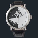 """Ballroom Dancing Leather Watch<br><div class=""""desc"""">Ballroom dance is a set of partner dances,  which are enjoyed both socially and competitively around the world. Because of its performance and entertainment aspects,  ballroom dance is also widely enjoyed on stage,  film,  and television.</div>"""