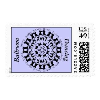 Ballroom Dancing Mandala 2 Postage Stamp