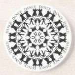 Ballroom Dancing Mandala Coaster 3