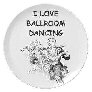 ballroom dancing party plates