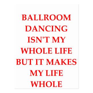 ballroom dancing postcard