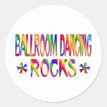 Ballroom Dancing Rocks Classic Round Sticker
