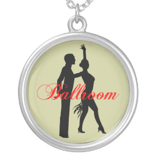 ballroom dancing round pendant necklace