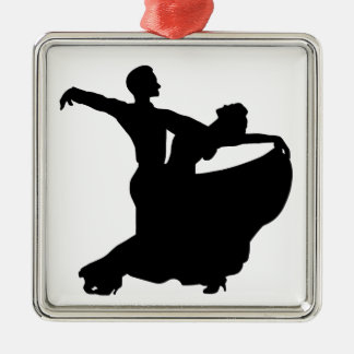 Ballroom Dancing Square Metal Christmas Ornament