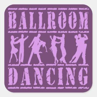 Ballroom Dancing Square Sticker
