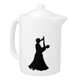 Ballroom dancing teapot