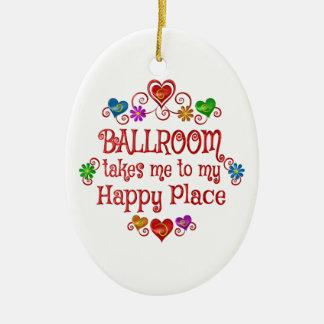 Ballroom Happy Place Ceramic Ornament