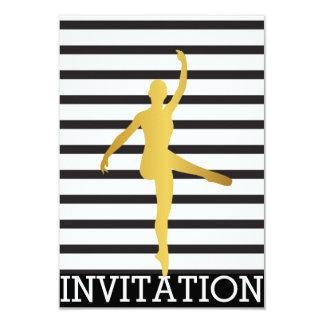 Ballroom Modern Dancer Piruette Vip Invitation