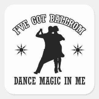 ballroomdance design square sticker