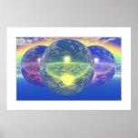 Balls 2 - Un-natural Rainbow (Light Border) Poster