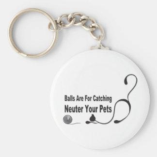 Balls 4 Catching/Neuter Pets Basic Round Button Keychain
