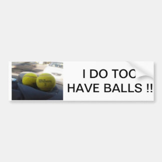 BALLS BUMPER STICKER