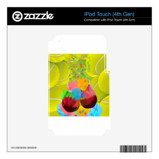 Balls glasses balloons. iPod touch 4G skin