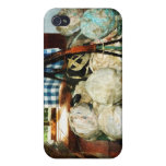 Balls of Cloth Strips in Basket iPhone 4/4S Cases
