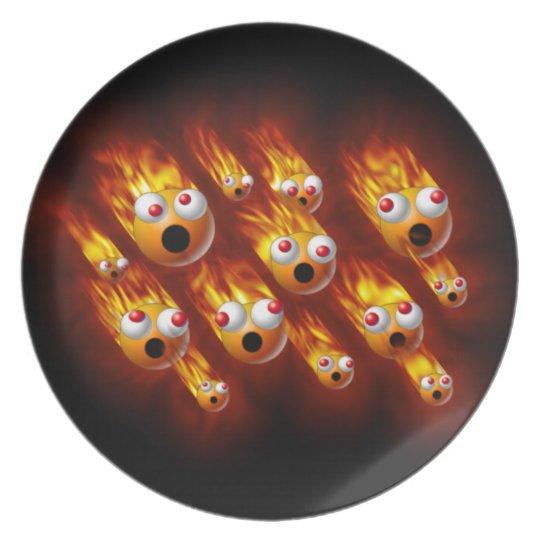 balls of fire dinner plate