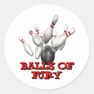Balls of Fury Classic Round Sticker