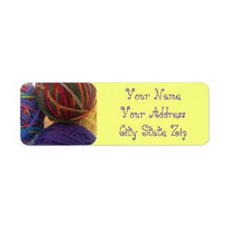 Balls of Yarn Address Labels