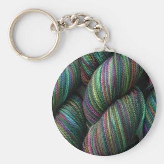 Balls of Yarn Basic Round Button Keychain