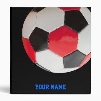 Balls on Black Vinyl Binder
