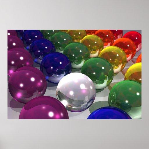 Balls On Light Poster