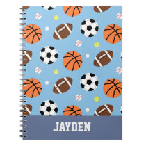 Balls Pattern Sports Journal