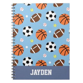 Balls Pattern Sports Journal