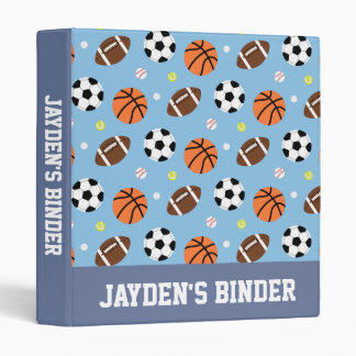 Balls Pattern Sports Themed Binder
