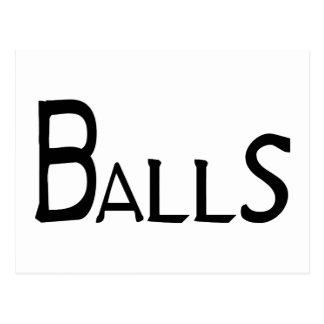 Balls Postcard