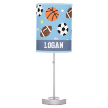 Balls Sports Pattern Boys Room Decor Table Lamp