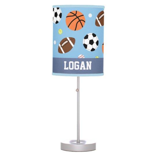Sports Pattern Boys Room Decor Table Lamp