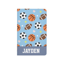 Balls Sports Themed Pattern For Boys Journal