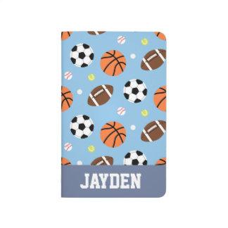 Balls Sports Themed Pattern For Boys Journal