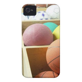 Balls stored in bins iPhone 4 case