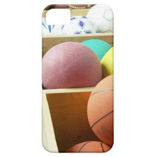 Balls stored in bins iPhone SE/5/5s case