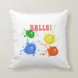 Balls! Throw Pillow
