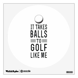 Balls to Golf Wall Decal