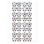 Balls With Flags Postcard