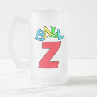 Ballsey = Ball-Z Frosted Glass Beer Mug