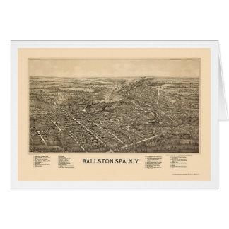 Ballston Spa, NY Panoramic Map - 1890 Card