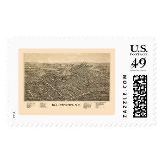 Ballston Spa, NY Panoramic Map - 1890 Postage