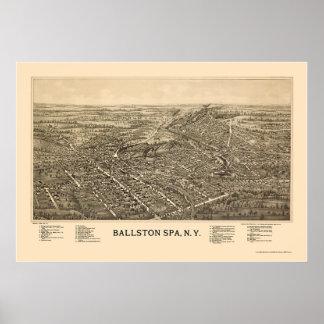 Ballston Spa, NY Panoramic Map - 1890 Poster