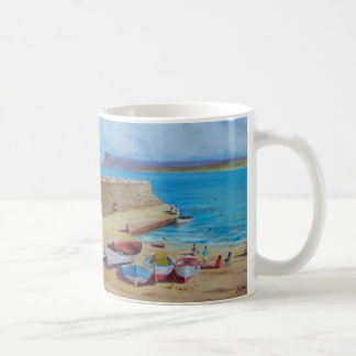 Ballycastle Harbour, County Antrim oil painting by Coffee Mug
