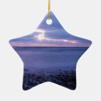 Ballyconnigar Strand at dawn Ceramic Ornament