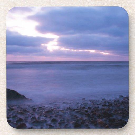 Ballyconnigar Strand at dawn Drink Coaster