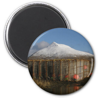 Ballyhoo Mountain Behind Crab Pots 2 Inch Round Magnet